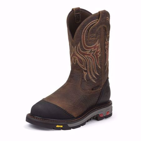 Picture of Justin Men's Borehole Mahogany Steel Toe (Met-Guard)