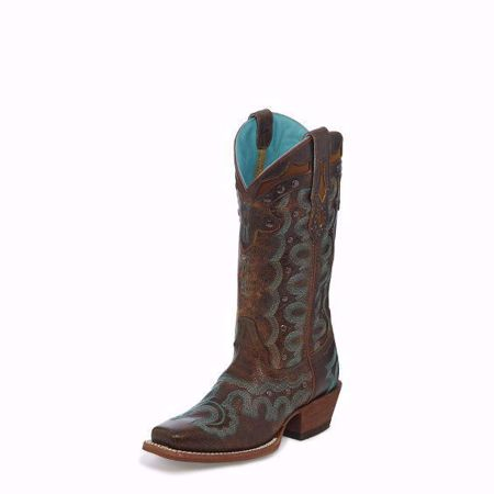 Picture of Justin Women's Faxon Brown Square Toe