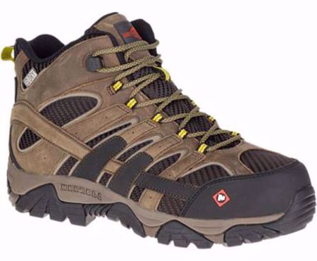 Picture of Merrell Men's Moab 2 Vent Mid Waterproof Comp Toe Work Boot