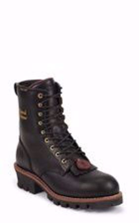 Picture of Chippewa Men's Paladin Black Waterproof Logger
