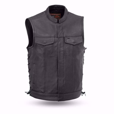 Picture of First Mfg. Men's Leather Vest - Sniper