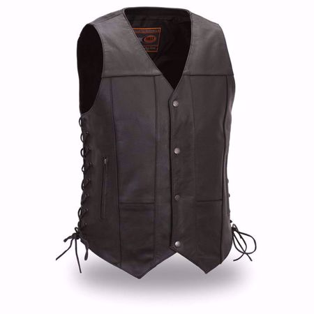 Picture of First Mfg. Men's Leather Vest - Top Biller