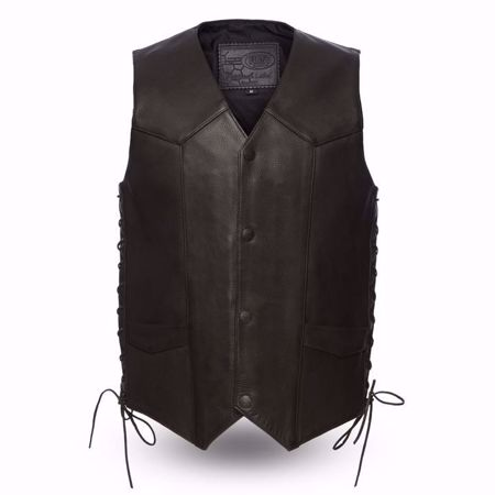 Picture of First Mfg. Men's Leather Vest - Deadwood