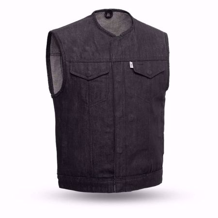 Picture of First Mfg. Men's Black Denim Vest - Murdock