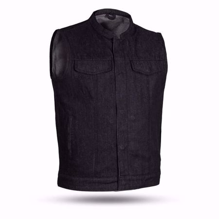 Picture of First Mfg. Men's Black Denim Vest - Kershaw