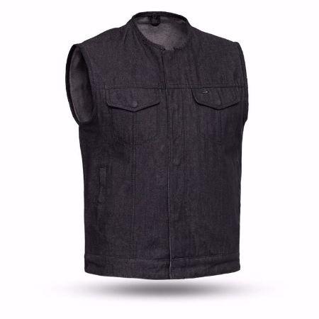 Picture of First Mfg. Men's Black Denim Vest - Haywood