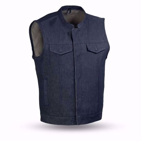 Picture of First Mfg. Men's Denim Vest - Kershaw - Blue