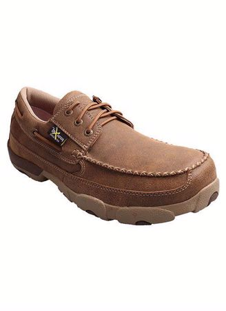 Picture of Twisted X Men's Safety Toe Boat Shoe Moc
