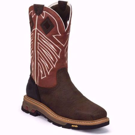 Picture of Justin Men's Roughneck Chestnut Waterproof Steel Toe