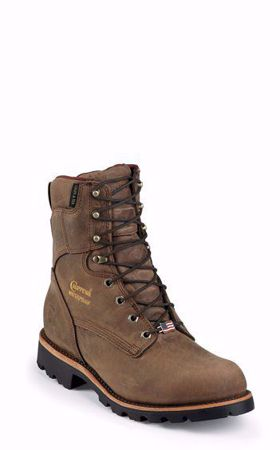 """Picture of Chippewa Men's 8"""" Ryodan Low Heeled Logger Insulated- 400grams"""
