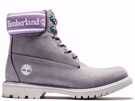 "Picture of Timberland Women's Purple and Grey 6"" Boot"