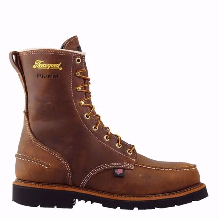 """Picture of Thorogood Men's 8"""" Safety Toe Moc Toe"""